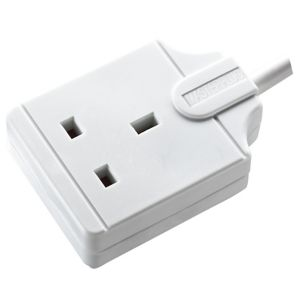Image of Masterplug 1 socket White Extension lead 8m