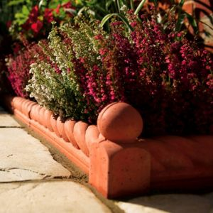 View Traditional Paving Edging Terracotta, (L)450mm (H)160mm (T)50mm details