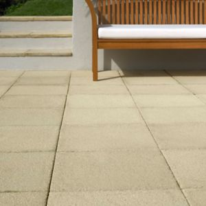 View Buff Textured Paving Slab (L)600mm (W)600mm details