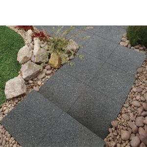 View Midnight Grey Panache Paving Slab (L)450 (W)450mm Pack of 40 details