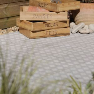 View Contemporary Chequerplate Paving Edging Grey, (L)900mm (H)250mm (T)50mm Pack of 23 details
