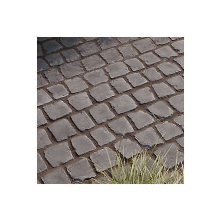 Charcoal Carpet Stones Cobble Mat Straight Pack Of 600 6 M