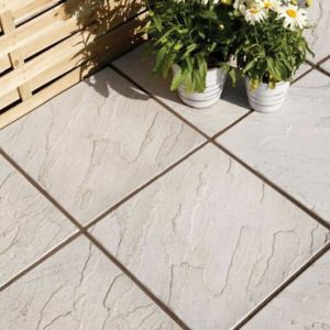 View Grey Derbyshire Paving Paving Slab (L)450 (W)450mm Pack of 76, 16.08m² details