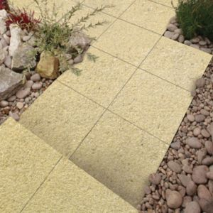 View Cream Panache Textured Paving Slab (L)450 (W)450mm Pack of 40, 8.10m² details