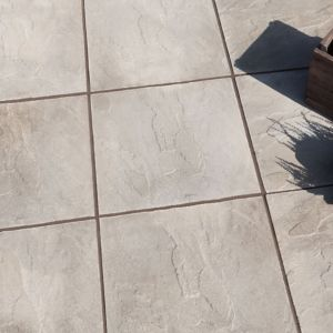 View Grey Peak Riven Paving Slab (L)450 (W)450mm Pack of 40, 8.10m² details