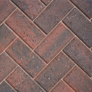 View Brindle Red Driveway Block Paving (L)200mm (W)100mm Pack, 8.08m² details