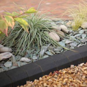 Image of Block Kerb Charcoal (L)100mm (H)150mm (T)125mm Pack of 288