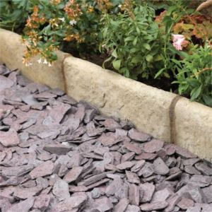 View Traditional Old Town Paving Edging Grey/ Green, (L)450mm (H)200mm (T)50mm Pack of 37 details