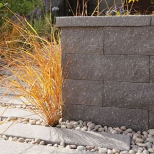 View Contemporary Panache Paving Edging Midnight Grey, (L)900mm (H)150mm (T)40mm Pack of 14 details