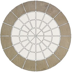 View Grey Green Old Town Outer Circle Paving Pack, 6.41m² (D)4M details