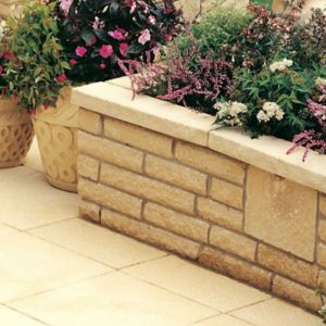 View Textured Traditional Buff Coping, (L)580mm (W)136mm (T)50mm details