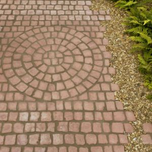 View Rustic Red Carpet Stones Paving Kit Straight Of 1 (L)1200mm (W)400mm details