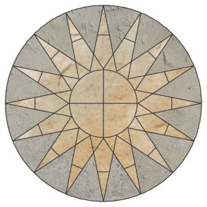 View Grey Green Old Town Sun Circle Paving Pack, 6.15m² (D)2.8M details