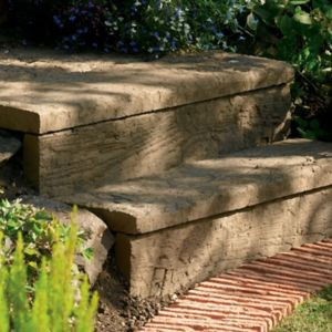 View Traditional Stonewood Paving Edging Antique Brown, (L)900mm (H)250mm (T)50mm details