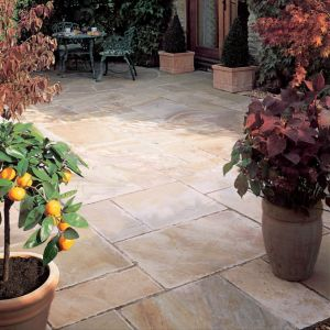 View Sunset Buff Natural Sandstone Mixed Size Paving Pack, 15.30 m² details
