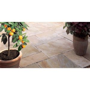 View Fossil Buff Natural Sandstone Mixed Size Paving Pack, 15.30 m² details