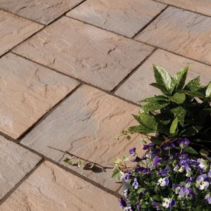 View York Brown Ashbourne Mixed Size Paving Pack, 5.67m² details