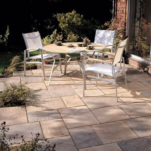View Autumn Bronze Old Riven Mixed Size Paving Pack, 5.25m² details