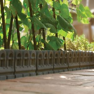 View Traditional Victorian Edging Paving Edging Grey, (L)450mm (H)220mm (T)50mm details