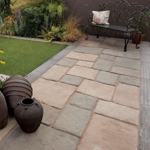 View Olde Blend Bamburgh Mill Mixed Size Paving Pack, 10.9m² details