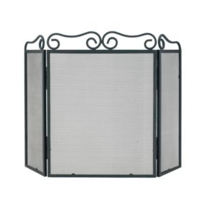View Slemcka Elegant Scroll Top Metal Fire Screen (H)600mm (W)780mm (D)140mm details