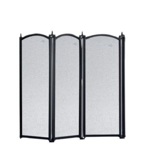 View Slemcka Traditional 4 Fold Cast Iron Fire Screen (H)535mm (W)980mm (D)20mm details