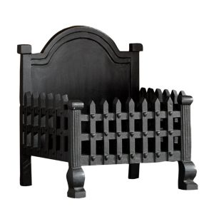 View Slemcka Contemporary Cast Iron Fire Basket (H)430mm (W)405mm (D)300mm details