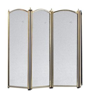 View Slemcka Traditional 4 Fold Fire Screen (H)640mm (W)850mm (D)20mm details