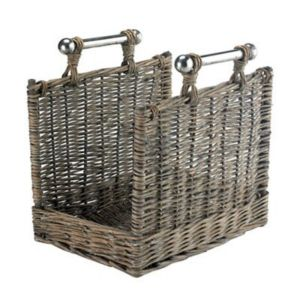 View Slemcka Willow Storage Basket (H)380mm (W)380mm (D)280mm details