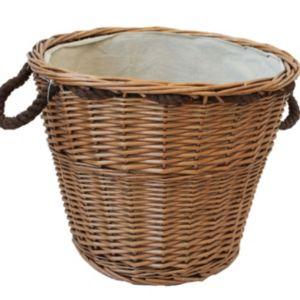 Image of Slemcka Brown Log basket (W)440mm