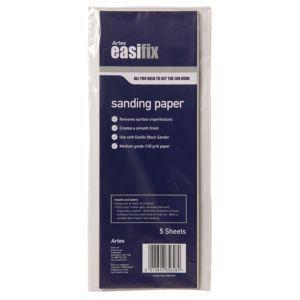 Image of Artex 100 Medium Sanding Paper Pack of 5
