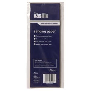 View Artex 100 Medium Sanding Paper, Pack of 5 details
