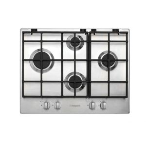 View Hotpoint GB641X 4 Burner Stainless Steel Gas Hob details