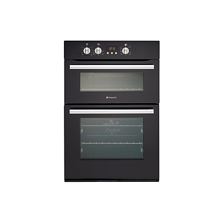 hotpoint dbs539cks black electric eye level double oven. Black Bedroom Furniture Sets. Home Design Ideas
