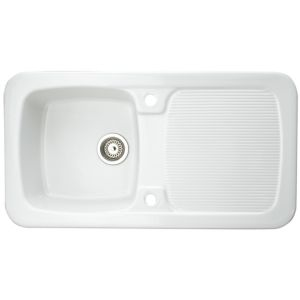 View Astracast Aquitaine 1 Bowl Ceramic Sink & Drainer details