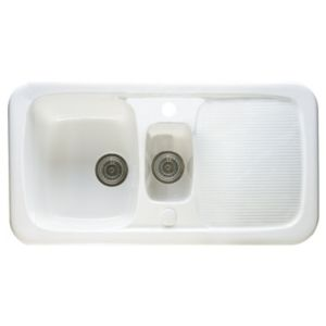 View Astracast Aquitaine 1.5 Bowl Ceramic Sink & Drainer details