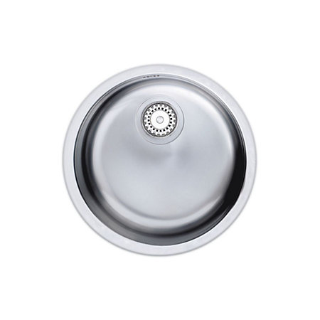 ... Bowl Polished Stainless Steel Round Sink Departments DIY at B&Q