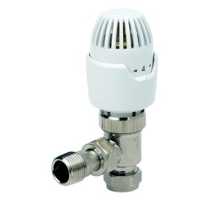 View Drayton Angled Chrome Effect Thermostatic Radiator Valve (Dia)10mm details