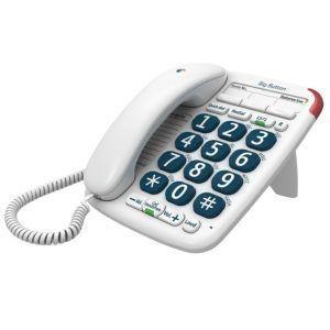 Image of BT 200 big button White Corded Telephone