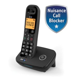 BT Dect Black Telephone with Nuisance Call Blocker - Single