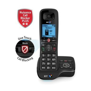 Image of BT DECT Black Telephone with Nuisance call blocker & answer machine - Single
