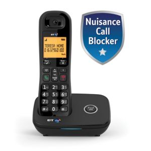 Image of BT DECT Black Telephone with Nuisance call blocker - Single