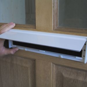 View Stormguard Aluminium/ Brush Self Adhesive Letterbox Draught Excluder, (L)292mm details