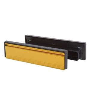 View Stormguard Gold Effect Aluminium & PVC Letterbox Draught Excluder (L)295mm details