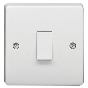 View Crabtree 1-Gang 1-Way 20A White Control Switch details