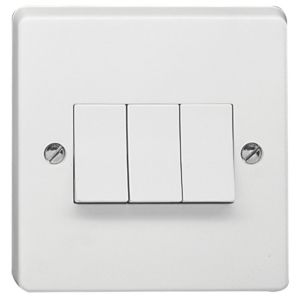 View Crabtree 3-Gang 2-Way 10AX White Switch details
