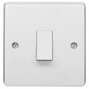 Image of Crabtree 10A Single White Gloss Intermediate switch