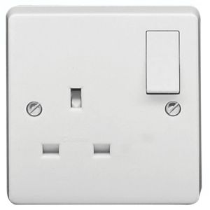 View Crabtree 13A 1-Gang White Switched Socket details