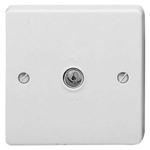 View Crabtree White Plastic Co-Axial Socket details