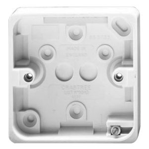 View Crabtree White Plastic Single Pattress Box 44 mm details